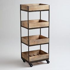 One of my favorite discoveries at WorldMarket.com: 4-Shelf Wooden Gavin Rolling Cart