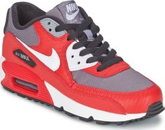 NEW NIKE AIR MAX 90 Womens 7.5 (6Y) University Red Classic Running LIMITED #Nike #Athletic
