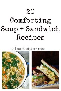 Whether You're Looking For Something Quick And Delicious For A Brown Baggin' It Kinda Day Or Something A Little More Substantial For That Weekend Lunch Date, These 20 Comforting Soup And Sandwich Recipes Will Have You Covered Via Girlheartfood Soup And Sandwich, Sandwich Recipes, Lunch Recipes, Vegetarian Recipes, Dinner Recipes, Healthy Recipes, Salad Sandwich, Delicious Recipes, Breakfast Recipes