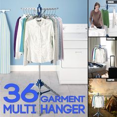 Portable Foldable Dryer Rack Folding Airer Multi Garment Hanger Collapsible Coat Stand Clothes line - Ultra Saver