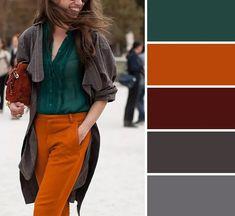 Colour Combinations Fashion, Color Combinations For Clothes, Fashion Colours, Colorful Fashion, Color Combos, Fall Color Palette, Colour Pallete, Color Mixing Chart, Looks Plus Size