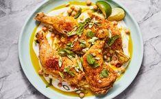 Yogurt-Braised Chicken Legs With Garlic and Ginger Ways To Cook Chicken, Chicken Recipes, Chicken Lettuce Wraps, Chicken Nachos, Braised Chicken, Roast Chicken, Chicken Legs, Ginger Chicken, Chicken Seasoning