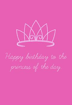 """The princess of the day"" printable card. Customize, add text and photos. print for free!"