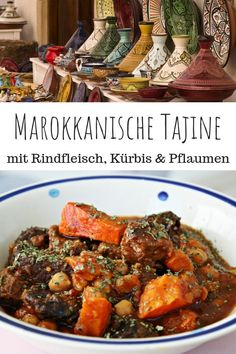 Moroccan tagine rindfleisch - A simple recipe for a spicy Moroccan beef-tagine with fesch. Moroccan tagine rindfleisch - A simple r. Beef Recipes, Soup Recipes, Vegetarian Recipes, Chicken Recipes, Beef Tagine Recipes, Clean Eating Soup, Clean Eating Recipes, Pot Roast Beef, Moroccan Beef