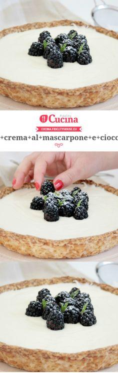 Crostata con crema al mascarpone e cioccolato bianco