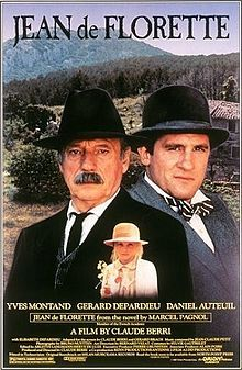 JEAN DE FLORETTE -  Based on a novel by Pagnol.  Stars three of Frances most prominent actors - Gerard Depardieu, Daniel Auteuil and Yves Montand.  The first part of a duology.  Great story.
