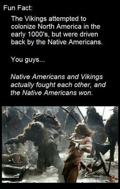well they didn't really 'win' the vikings were far from home and it was taking too much effort to keep sailing back and forth and they were getting tired of the attaches and they just decided it wasn't worth it and left History Memes, History Facts, The More You Know, Good To Know, Viking Facts, Wtf Fun Facts, Random Facts, Crazy Facts, Funny Facts