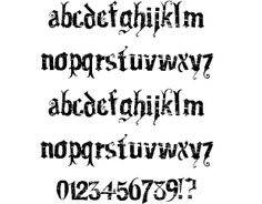 "Gartentika font by Dominic Bard........This is what my arm tattoo is in, I think it's a contender, as it has a gothic feel, the ""worn"" stamp effect, the tendril detail serif... what do you guys think?"
