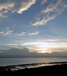 Gili sunset and low tide