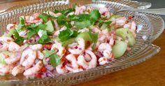 Ruokaklubi: Katkarapu-ceviche Ceviche, Pasta Salad, Shrimp, Appetizers, Meat, Ethnic Recipes, Food, Crab Pasta Salad, Appetizer