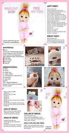 Free Amigurumi Crochet Doll Pattern and Design ideas – Page 8 of 37 – Daily Crochet! Free Amigurumi Crochet Doll Pattern and Design ideas – Page 8 of 37 – Daily Crochet!Free cute amigurumi patterns 25 amazing crochet ideas for beginners to make ea Free Baby Patterns, Crochet Dolls Free Patterns, Crochet Toys, Crochet Baby, Knitting Patterns, Free Knitting, Crochet Basics, Amigurumi Doll, Outdoor Christmas