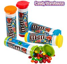 M&M's Minis In Colorful Tubes Enjoy these fun mini treats Mini milk chocolate M&M's candies are packed into colorful, resealable plastic tubes! Each M&M's Minis Chocolates Candy Tube Net Wt. Case contains 24 M&M's Minis Chocolate Tubes. 90s Candy, Bulk Candy, Candy Party, Candy Store, Party Favors, Mini M&ms, Wholesale Candy, Peanut Candy, Kitchens