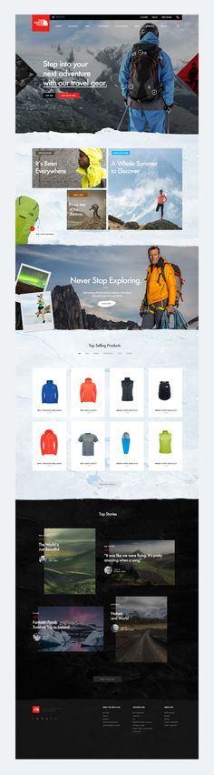 The North Face website on Behance