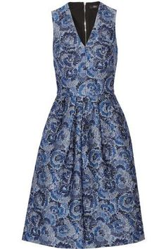 Katherina floral-jacquard dress #jacquarddress #women #covetme #markuslupfer