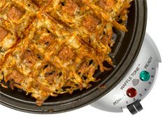 Common Appliances, Uncommon Uses; hash browns in waffle maker