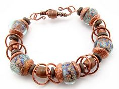Lisa Atchison - Touch of Glass Designs: Bracelet with Electroformed Acorn Caps