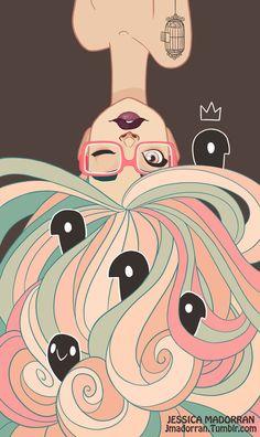 Commission piece for Artbylumi. ______________________________________________ Art by Jessica Madorran TUMBLR BLOG SHOP