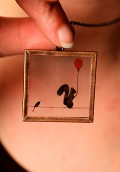 Sold this pendant yesterday, our vendors are great! Squirrel on a Wire by GlakLove