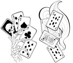 Card tattoos by deadmansreel cards card tattoo designs, play Tattoo Card, Card Tattoo Designs, Tattoo Images, Tattoo Photos, Playing Card Tattoos, Playing Cards, Illustration Tattoo, Gambling Quotes, Gambling Tattoos