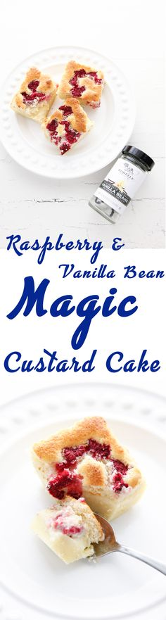 Ready for a magical dessert? This Raspberry Vanilla Bean Magic Custard Cake is the recipe for you. Made with fresh berries, this delicious dessert makes three layers on its own. Via @thebrooklyncook