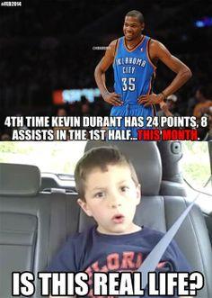 Kevin Durant's MVP Month! - http://nbafunnymeme.com/kevin-durants-mvp-month/