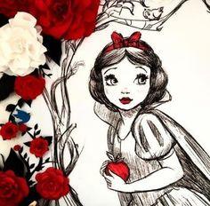 New disney art snow white anime style Ideas Disney Princess Art, Disney Nerd, Arte Disney, Disney Fan Art, Disney Love, Drawing Cartoon Characters, Cartoon Drawings, Cartoon Art, Disney Characters