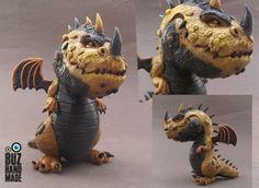 Golden Dragon by buzhandmade on DeviantArt New Dragon, Clay Dragon, Dragon Series, Modelos 3d, Cute Dragons, Little Dragon, Miniature Figurines, Ceramic Animals, 3d Prints