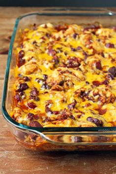 This Bubble Up Chili Cheese Dog Casserole is just 321 calories or 7 Green, 5 Blue or 5 Purple myWW SmartPoints per serving. www.emilybites.com