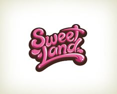 Candy store logo design: Sweet Land