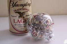 Recycled Yuengling Beer Can Ornament by brandyfisher on Etsy, $10.00