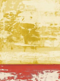 Squeegeescape 30 Wall Art by Milton Coppo from Great BIG Canvas. Large abstract painting in shades of gold and pink split into two sections. Squeegeescape 30 Wall Art by Milton Coppo from Great BIG Canvas.