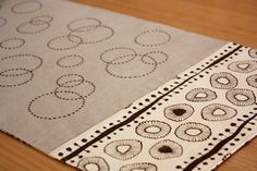 Sashiko Table Runner - A Spoonful of Sugar