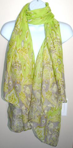 Green Summer Scarf - Inspired by Claire Jane, LLC