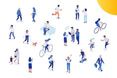 Ad: Isometric people big vector set by Vector_Art on Different isomeric people vector set. Male and female characters. Architecture People, Architecture Collage, Architecture Graphics, Architecture Drawings, City Illustration, Character Illustration, Graphic Design Illustration, Bicycle Illustration, Business Illustration