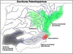 Escrituras paleohispánicas. File:Mapa escriptures paleohispàniques-cast.jpg
