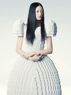 The Amazing Lego Wedding Dress.  The LEGO dress was designed by Japanese artist Rie Hosokai.  It was created for the Piece of Peace LEGO exhibition in Tokyo, Japan.