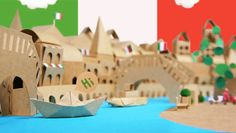 Cardboard Venice: Independent web designer and Paper Crave reader, Melody Chou, recently had the chance to work as part of a design team at Taiwan-based Medialand to create a mind-blowingly awesome paper project for their client, clothing company Giordano.
