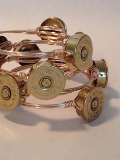 Shotgun Shell Bangles by YankeeBelleCo on Etsy