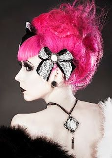 big pink goth hair #happy #halloween #beinspired #think #HairBoothTeam #HairBoothSalon #StyleMadeSocial #YYC - www.hairbooth.ca