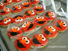 Itsy Bitsy Elmo Cookies