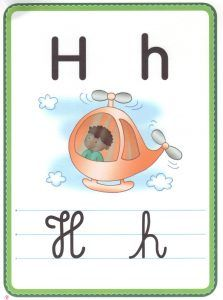 ALFABETO LETRA H Alphabet Writing, Abc Alphabet, Alphabet Posters, Teaching Materials, Teaching Spanish, Homeschool, Classroom, Symbols, Letters