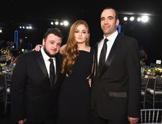 """Pin for Later: The Game of Thrones Cast Mingled With Famous Faces at the SAG Awards John Bradley (Samwell Tarly), Sophie Turner (Sansa Stark), and Rory McCann (Sandor """"The Hound"""" Clegane) Game Of Thrones Westeros, Game Of Thrones Cast, Game Of Thrones Pictures, Rory Mccann, Game Of Throne Actors, A Dance With Dragons, Kings Game, Sansa Stark, Attractive People"""