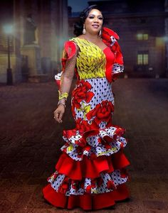 Ankara Styles Gown for Ladies: African Design for Female 2019 ~ Dezango Hub Diyanu Fa. Ankara Styles Gown for Ladies: African Design for Female 2019 ~ Dezango Hub Diyanu Fashion Unique Ankara Styles, Ankara Long Gown Styles, Ankara Styles For Women, Beautiful Ankara Styles, Ankara Gowns, Nigerian Ankara Styles, Robes Ankara, Nigerian Men, Beautiful Outfits