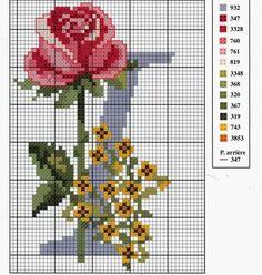 Ateliê sonho encantado.: Monograma com rosas 2 parte!!