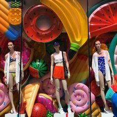 "TOPSHOP, Oxford Street, London, UK, ""What makes for a better Summer..."", pinned by Ton van der Veer"