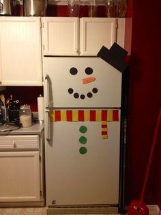 Snowman fridge! Gotta do this