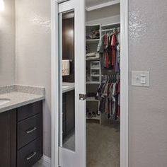 Bathroom Pocket Door Design Ideas, Pictures, Remodel, And Decor. Bathroom  Closet ...