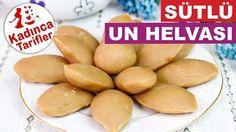 Sütlü Un Helvası Tarifi Videosu Halva Recipe, Recipe Sites, Pretzel Bites, Food Videos, Deserts, Easy Meals, Food And Drink, Milk, Cooking Recipes