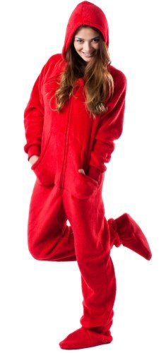 97484240c4 Take a look at this Red Heat Wave Chenille Hooded Footie Pajamas - Adults  by Footed Pajamas on today!