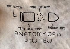 Anatomy of a Pew Pew firearms cross stitch pattern chart by UnconventionalX on Etsy Stupid Funny Memes, Funny Relatable Memes, The Funny, Funny Stuff, Hilarious, Cross Stitching, Cross Stitch Embroidery, Cross Stitch Patterns, Floral Embroidery